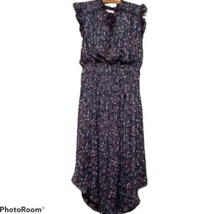 We're All Pretty Girls Dress - Blue Floral Sparkle